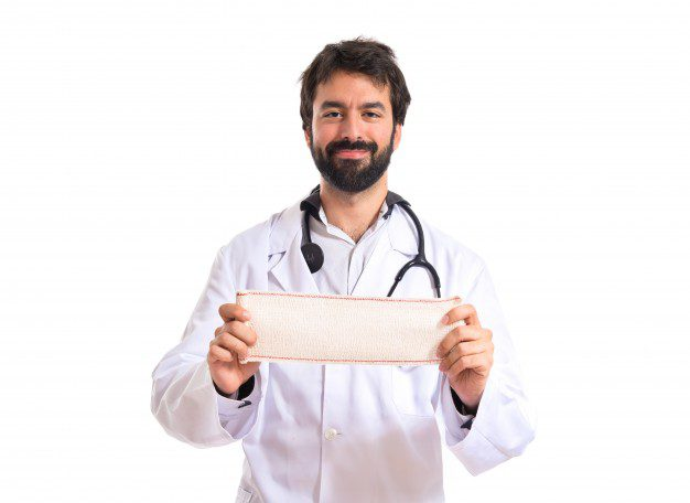 doctor-with-bandage